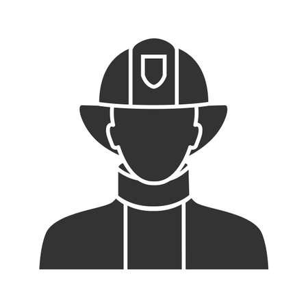 Firefighter icon Illustration