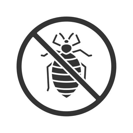 Stop bed bug sign icon
