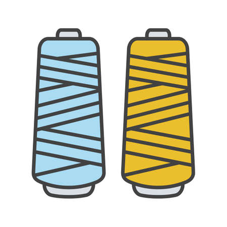 Thread spool color icon. Isolated vector illustration Иллюстрация