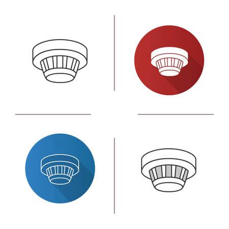 Smoke detector icon. Vettoriali