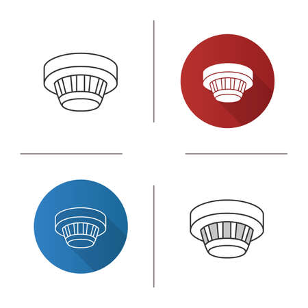 Smoke detector icon. Illustration