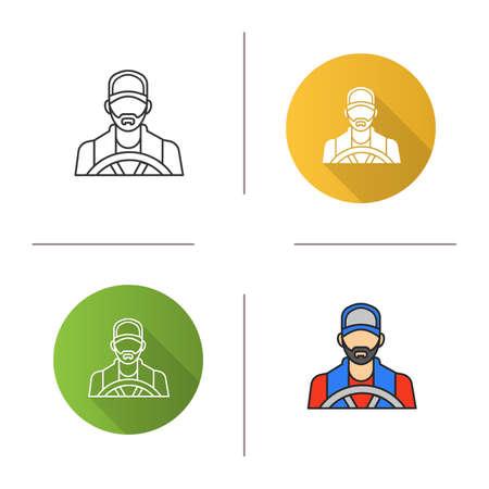 Driver icon. Flat design