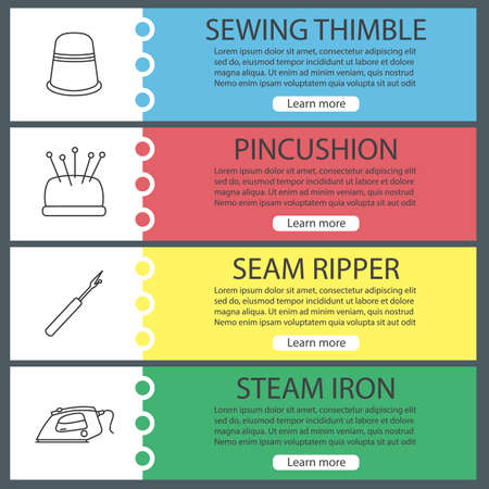 Tailoring web banner templates set.