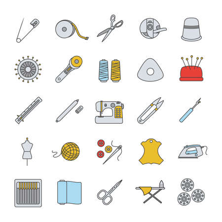 Tailoring color icons set.
