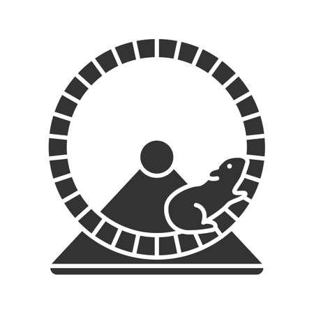 Hamster wheel glyph icon.