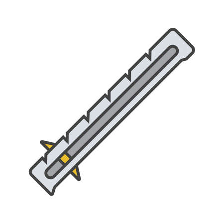 Sewing gauge color icon. Ruler. Isolated vector illustration Illustration