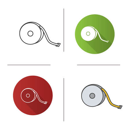 Measuring tape icon.