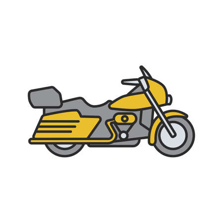 Motorbike color icon. Motorcycle. Isolated vector illustration