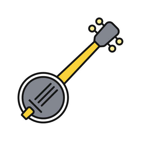 Banjo color icon. Isolated vector illustration