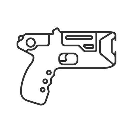 Taser Linear Icon Incapacitating Gun Thin Line Illustration