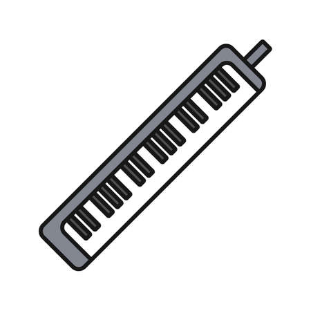 Melodica color icon. Pianica. Isolated vector illustration Illustration