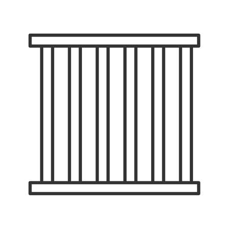 Prison bars linear icon. Animal cage. Thin line illustration. Jail. Contour symbol. Vector isolated outline drawing Illustration