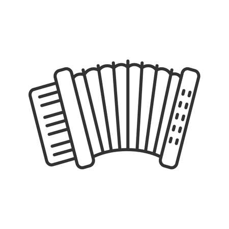 Accordion linear icon. Thin line illustration. Contour symbol. Vector isolated outline drawing