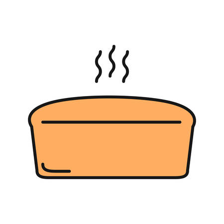 Brick bread loaf color icon. Isolated vector illustration Illustration