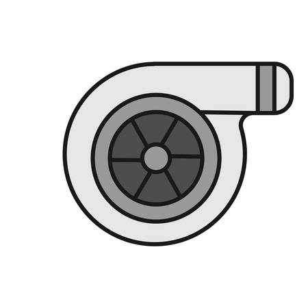 Turbocharger color icon. Colloquially turbo. Isolated vector illustration Illustration