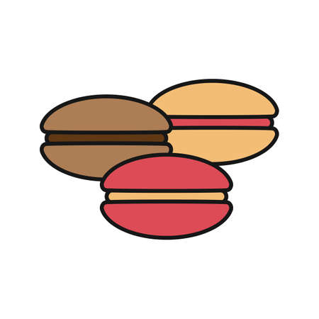 Macarons color icon. Isolated vector illustration