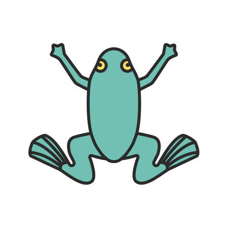 Frog color icon. Toad. Isolated vector illustration
