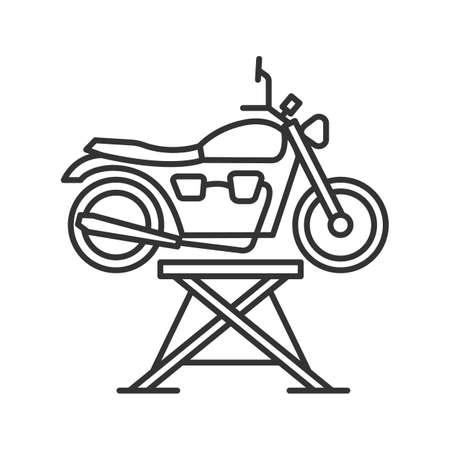 Motorbike Jack Linear Icon. Thin Line Illustration. Motorcycle ...