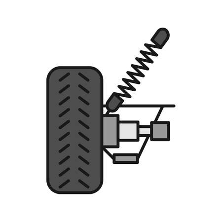 Car suspension color icon. Shock absorber. Isolated vector illustration Illustration