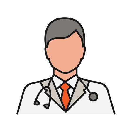 Doctor color icon. Medical worker. Practitioner. Isolated vector illustration