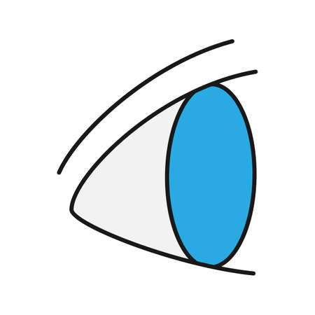 Human eye color icon. Ophthalmology. Good vision. Isolated vector illustration