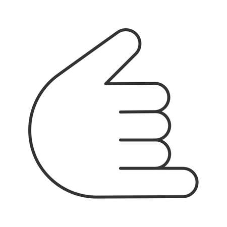 Shaka hand gesture linear icon. Hang loose. Thin line illustration. Call me sign. Contour symbol. Vector isolated outline drawing