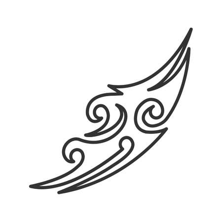 Tattoo image linear icon. Thin line illustration. Tattoo sketch. Contour symbol. Vector isolated outline drawing