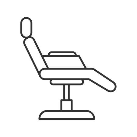 Tattoo chair linear icon. Thin line illustration. Contour symbol. Vector isolated outline drawing