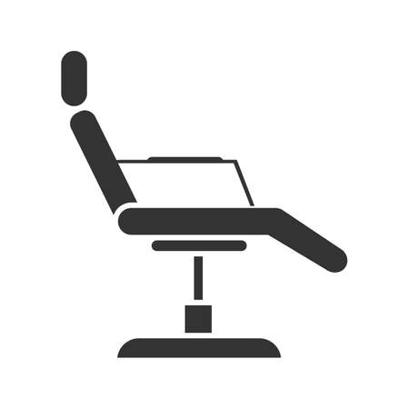 Tattoo chair glyph icon. Silhouette symbol. Negative space. Vector isolated illustration  イラスト・ベクター素材