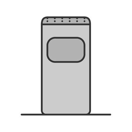 Garbage bin color icon. Trash can. Waste container.Isolated vector illustration