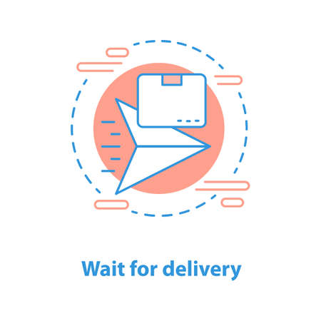 Delivery waiting time concept icon. Shipping service idea thin line illustration. Vector isolated outline drawing