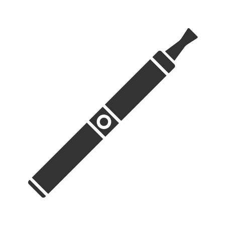 E-cigarette glyph icon. Vape pen. Electronic cigarette. Silhouette symbol. Negative space. Vector isolated illustration Illusztráció