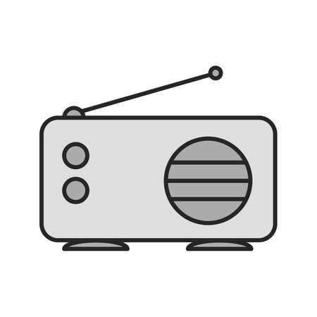 Radio color icon. Isolated vector illustration