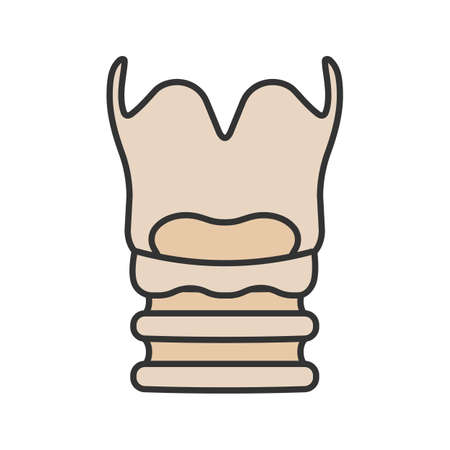 Larynx color icon. Voice box. Isolated vector illustration