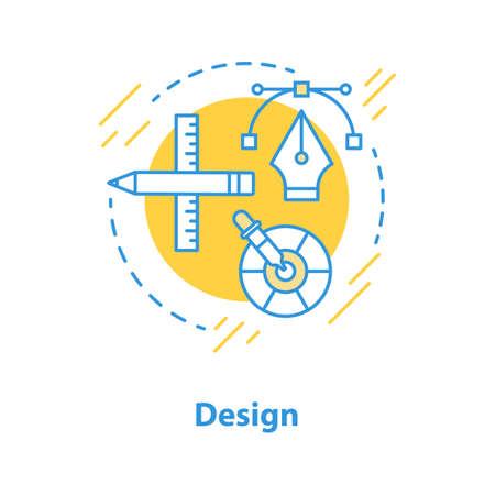 Diseño de icono de concepto de proceso. Ilustración de línea fina de idea de realización de proyecto. Desarrollo. Dibujo de contorno aislado del vector Ilustración de vector