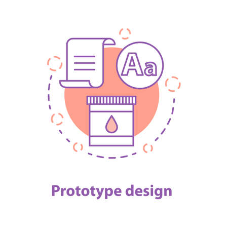 Prototype design concept icon. Project realization idea thin line illustration. Graphic design. Vector isolated outline drawing