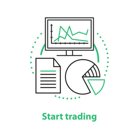Start trading concept icon. Market access idea thin line illustration. Vector isolated outline drawing