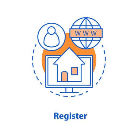 Account creating concept icon. New user registration idea thin line illustration. Homepage. Vector isolated outline drawing