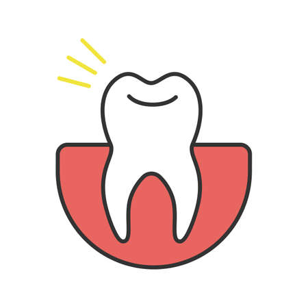 Toothache color icon. Isolated vector illustration Иллюстрация