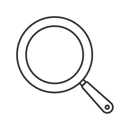 Frying pan linear icon. Frypan. Thin line illustration. Contour symbol. Vector isolated drawing
