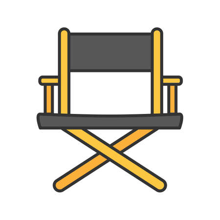 Director's chair color icon. Isolated vector illustration