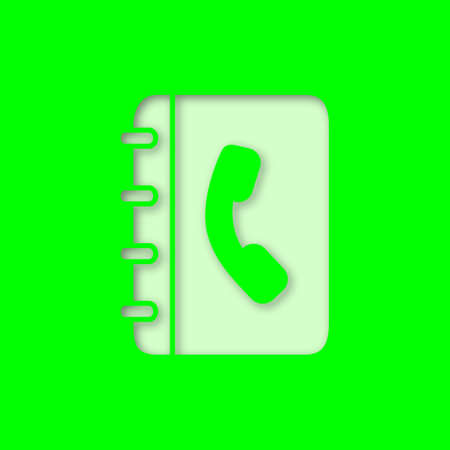 Telephone Book Paper Cut Out Icon Phone Contacts Notepad With