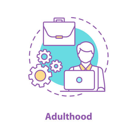 Programmer concept icon. IT technology. App development idea thin line illustration. Freelancer. Adulthood. Vector isolated outline drawing