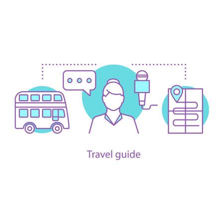 Travel guide concept icon.