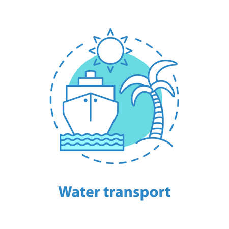 Water transport concept icon. Summer rest. Vacation.