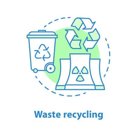 Icono del concepto de reciclaje de residuos. Ilustración de línea fina de idea de protección del medio ambiente.
