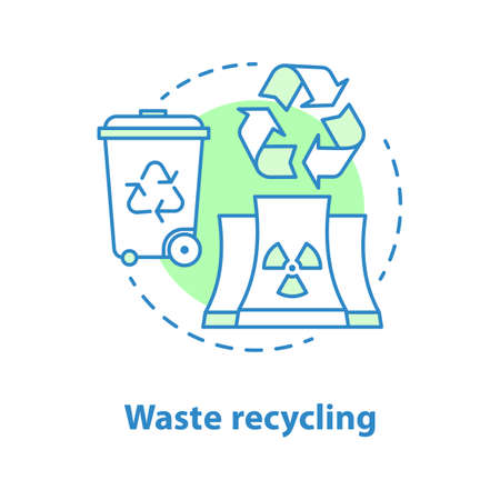 Waste recycling concept icon. Environment protection idea thin line illustration.