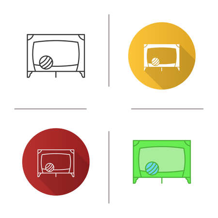 Playpen icon. Flat design, linear and color styles. Isolated vector illustrations
