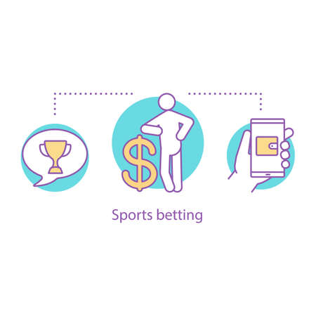 Sports betting concept icon. Success. Online betting idea thin line illustration. Vector isolated outline drawing