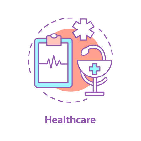 Medicine concept icon. Medical emergency idea thin line illustration. Healthcare. Vector isolated outline drawing